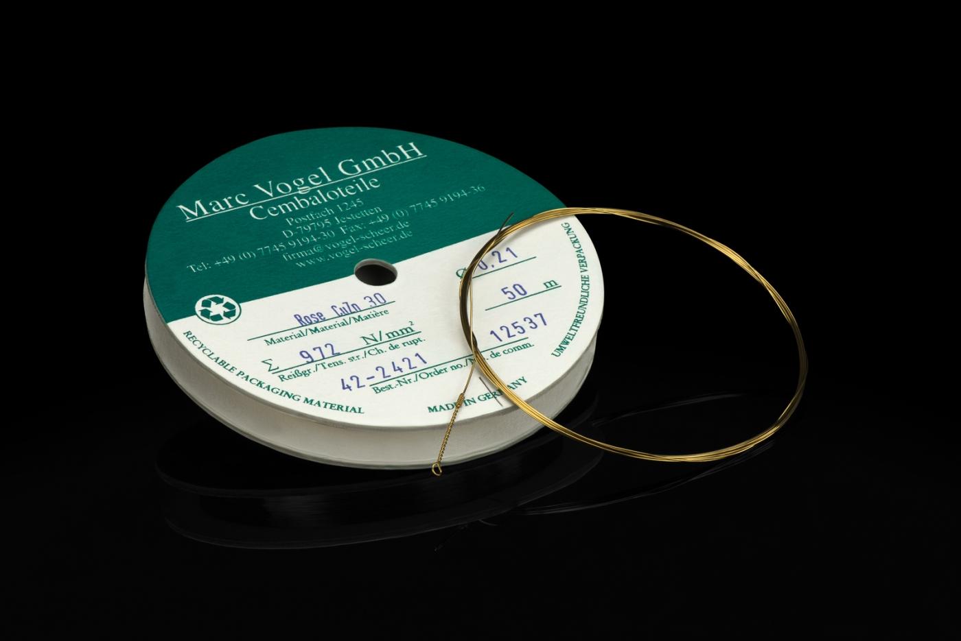 Marc Vogel Gmbh Rose Strings Cuzn30 Coil 50m